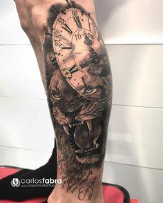 """2,696 Likes, 34 Comments - Carlos Fabra   CosaFina tattoo (@carlosfabra_cosafina) on Instagram: """"""""El rugido de tu interior siempre hará latir mi corazón"""" Homenaje de un buen padre para su hijo…"""""""