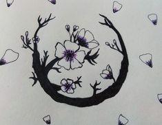 Sakura draw drawing flowers cute flower
