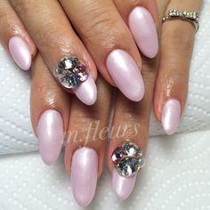 【Pink Pearl×Bijou】   M様♡いつもありがとうございます  #Nail #NailArt #NailDesign #北摂 #箕面 #NailSalon #Mfleurs #NailArtist #Mayu #Swarovski #Pink #PinkPearl #春色   #네일 #네일아트 #美甲 #美甲師