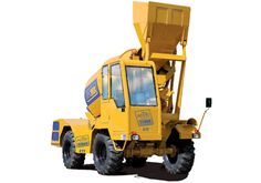 FEATURES OF 4 TT  • Drum Capacity : 4 cum/batch • Output: 12 – 14 cum/hr (Considering 1 cum = 2500 liters. MAX) Slump S1 • Operation is user-firendly • Compact & economic • Low Maintenance Cost • 4 Wheel drive and 4 Wheel steer • Electronic weighing system • Efficient and reliable after-sale service • Ideal solution, whenever & wherever small quantity of concrete is required