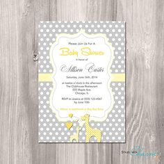 This 4x6 or 5x7 inch invitation will be personalized with your choice of wording. I will then email you with a proof of the design for your