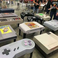 Video game coffee tables though . Video Games Consoles Console Mario Zelda Nintendo Switch Playstation Xbox One Retro Nostalgia Xbox Atari NES SNES Sega Genesis Master System Game Gear Gameboy GameCube Wii Wii U