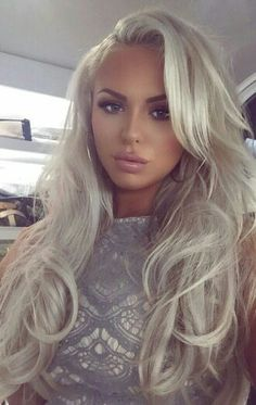 Beautiful Styles: Platinum Blonde Hair – My hair and beauty Hair Colorful, Platinum Blonde, Silver Hair, Hair Dos, Gorgeous Hair, Pretty Hairstyles, New Hair, Hair Inspiration, Hair Makeup