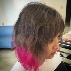 WEBSTA @ yuka.2610 - #弘前市美容室 #弘前市美容師#LALAhair#ララヘアー#ヘアカラー#haircolor #グラデーション#グラデーションカラー #スロー#throw#モノトーン#マニパニ#グラデ#ピンク#ghg