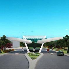 TCDD High Speed Train Depot & Maintenance Facilities, Enterance Building  designed by Feyyaz Aysoy
