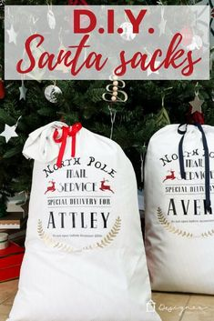 DIY Santa Sacks Your Kids Will LOVE! | Kaleidoscope Living