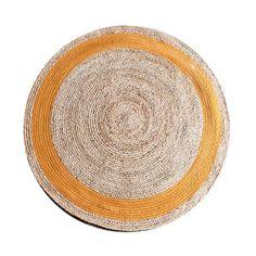 Carpet Jute round 120 cm - natural_orange (7037) #Pakhuis3 #Carpet #Kleed
