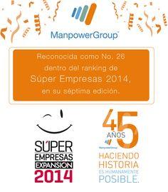 ManpowerGroup dentro de Súper Empresas 2014