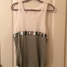 WHITE & GRAY PINK TANK FINAL PRICE EXCELLENT CONDITION WHITE & GRAY PINK TANK. PINK Victoria's Secret Tops Tank Tops