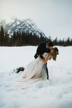 Canmore Elopement Photographer in the Canadian Rockies - Image 33 wedding photography Canmore Adventure Elopement Winter Wedding Snow, Snowy Wedding, Winter Wonderland Wedding, Forest Wedding, Elope Wedding, Wedding Pictures, Dream Wedding, Wedding Ceremony, Budget Wedding