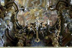 Decke, Asamkirche St. Johann Nepomuk, München, Bayern, Deutschland