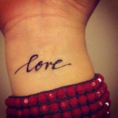 Temporary Handwritten Love Tattoo. $5.00, via Etsy.