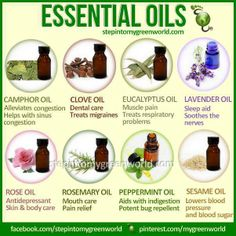 Essential oils for remedies and good health