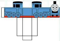 Thomas de trein traktatie. Evt. nog een tekst op de achterkant schrijven en het cijfer van de leeftijd op de zijkant. Vullen met bijv. Smoeltjes en een (snoep)fluitje