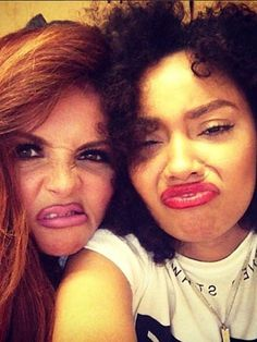Little Mix's Jesy Nelson and Leigh-Anne Pinnock pucker-up for 'hot' selfie during rehearsals for Salute Tour