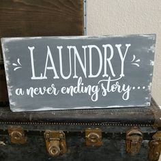 """82 Likes, 9 Comments - Amy Pelzner (@leapoffaithcrafting) on Instagram: """"Trying to finish up my laundry room! New sign...check! Whipped this up yesterday with spare mdf…"""""""