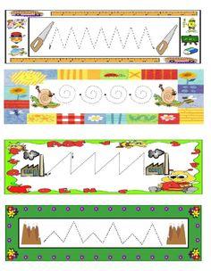 Schrijfpatroon voor kleuters / Dibujo4
