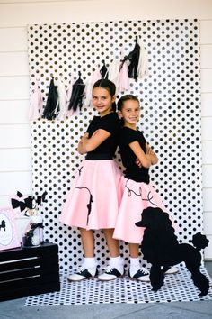 Poodle Skirt Themed Birthday Party via Kara's Party Ideas KarasPartyIdeas.com Cake, tutorials, stationery, favors, supplies, and more! #poodleskirt #poodleparty #pinkandblackparty #poodleskirtyparty #karaspartyideas #girlbirthdayparty #piolkadotparty (21)