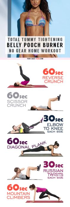 This killer tummy-cinching routine works magic on muffin tops and that soft belly pooch and will leave your tummy tight and toned in two weeks!