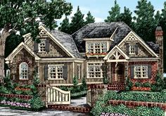 My dream house! Eplans Cottage House Plan - Beautiful Ceilings - 3125 Square Feet and 4 Bedrooms from Eplans - House Plan Code Cottage Floor Plans, Cottage House Plans, Cottage Homes, House Floor Plans, 4000 Sq Ft House Plans, House Plans One Story, Best House Plans, The Plan, How To Plan