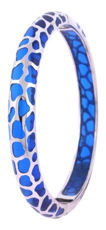Bracelet |  Angélique de Paris 'Safari' Resin and silver