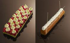 Gâteaux au mètre (tarte aux fraise à la crème de pistache - Baba au rhum vanille) - Christophe Michalak