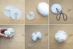 tutoriel step by step pompon en laine - wool pompom tutorial - www.pierrepapierciseaux.be
