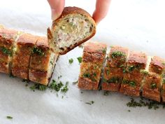 Recette de Baguette Fourrée au Fromage Frais et Jambon : la recette facile