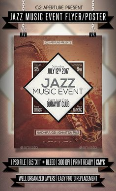 Live Music Flyer Template  Flyer Template Flyers And Template