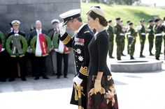 Crown Prince Frederick and Crown Princess Mary attended the annual military ceremony at the former Danish fort, the Citadel in Copenhagen.