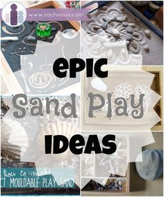 Lots of Sand Play Ideas list with inspiration from some of my favourite blogs