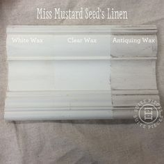 Miss Mustard Seed's Milk Paint With Antiquing Wax, White Wax and Clear Wax! | Suite Pieces