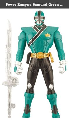 "Power Rangers Samurai Green 6.5"" Morphin Action Ranger. Watch as the 6.5 inch Power Rangers morph from their secret civilian identities to their heroic Ranger mode at a flick of a button! These super heroes are ready for action power in a snap!."