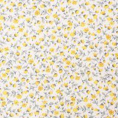 Yellow Floral Cotton Poplin | Dunelm