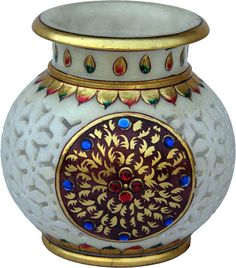 Marble Flower Vase. Height is 12 inches.