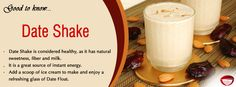 Date Shake - This amazing shake recipe with dates and milk is dead simple and tastes delicious... Visit www.bestdesifood.com/recipe-93-Date%20Shake