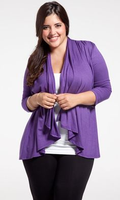 Dress this up with a cami and some great jewelry and its perfect for the office! So versatile you will want one in every color. This plus size cardigan is made from a soft fabric that is easy to care for. Wear it now and again in the winter layered with your other favorite Sealed With a Kiss Designs