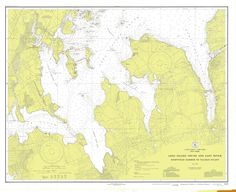Long Island Sound and East River Historical Map - 1934
