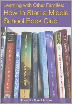 Great list of discussion starter questions  |  How to Start a Middle School Book Club @EducationPossible