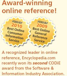 A recognized leader in online reference, Encyclopedia.com recently won its second CODiE award from the Software & Information Industry Assoc...