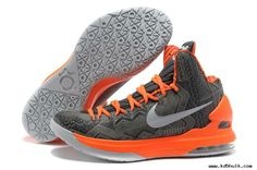 new concept cf13e 58ae3 Sale Online Nike KD V (5) BHM Black History Month Grey Orange (