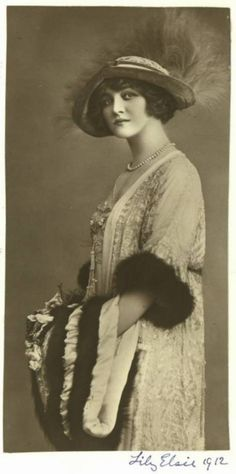 "English actress Miss Lily Elsie (1886-1962) as 'Angèle Didier' - 1912 - 'The Count of Luxembourg' - @~ Mlle - in Daly's Theatre, costumes by ""Lucile"" (Lucy, Lady Duff Gordon. 1863-1935)."