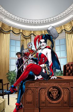 New Suicide Squad Futures End Variant Cover (New 52 DC), Harley Quinn Comic Book Characters, Comic Character, Comic Books Art, Comic Art, Batman, Es Der Clown, Harley Quinn Comic, Hq Dc, Catgirl