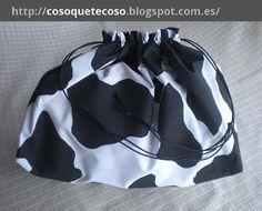 Bolsa para la plancha en tela de vaca