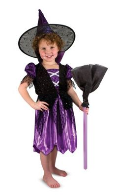 Best deals on amazon for Melissa & Doug Witch Role Play Costume Set - Black/Purple