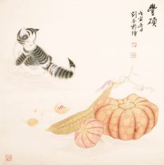 Cats - CNAG005404 Chinese Painting, Hand Painted, Paintings, Cats, Artist, Animals, Style, Swag, Gatos