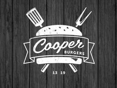 Cooper Burgers Logo Design 25 Cool & Creative Fast Food & Drink Logos For Inspiration