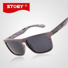 STORY Mens ⑥ Brand Designer Wooden Sunglasses Fashion Square Sport Sunglass  Fake இ Wood Sun Glasses Women Oculos De Sol Masculino STORY Mens Brand ... 8f700a33cd
