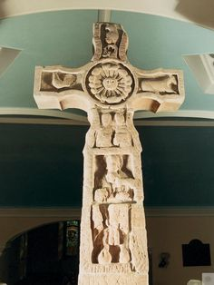 Ruthwell Cross, Dumfries & Galloway. Find this 7th Century cross in a tiny parish church. It is considered to be one of the major monuments of early medieval Europe.   #Scotland #History