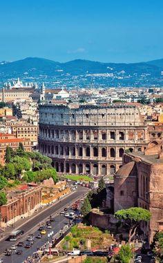ღღ Ariel view of The Colosseum in Rome | 10 Amazing Places in Italy You Need To Visit